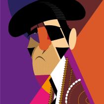 Juan José Padilla. Un projet de Illustration vectorielle et Illustration de portrait de Nacho de Diego - 17.04.2020