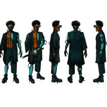 Mi Proyecto del curso: Hiro Protagonist. Um projeto de Desenho digital de Angel Bermello - 19.04.2020