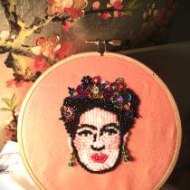 My project in Beaded Embroidery Portraits course. Un progetto di Ricamo di Jillian Campbell - 19.04.2020