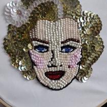 My project in Beaded Embroidery Portraits course. Un proyecto de Bordado de li-lo-08 - 19.04.2020