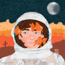 Meu projeto do curso: Ilustração digital com texturas no Photoshop. Un proyecto de Dibujo digital de Alice Gonçalves - 22.04.2020