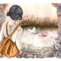 Mi Proyecto del curso: Ilustración en acuarela con influencia japonesa. Un projet de Illustration, Aquarelle et Illustration jeunesse de Marisol Ormanns - 17.04.2020