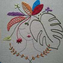 Mi Proyecto del curso: Técnicas de bordado: ilustrando con hilo y aguja. A Embroider project by Araceli Braña Rábano - 04.29.2020