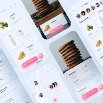 Social Shopping App UI Design. A Design, UI / UX, Graphic Design, and Mobile App Design project by David Sanz Soblechero - 05.01.2020