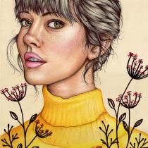 Mi Proyecto del curso: Ilustración con pastel y lápices de colores. A Portrait Drawing project by Ana Martinez Garcia - 04.03.2020