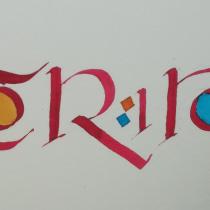 Mi Proyecto del curso: Caligrafía uncial para principiantes. Un projet de Calligraphie de 13ale.agati - 03.05.2020