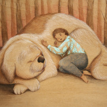 Mi Proyecto del curso: Acuarela sobre madera. . A Illustration, Aquarellmalerei, Kinderillustration, Malerei mit Acr und l project by virfil - 06.05.2020