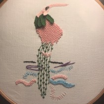 More kids drawing turned into embroidery. Un projet de Broderie de Catharina Mortensen - 07.05.2020