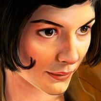 amelie poulain. A Digital illustration, and Portrait illustration project by brenbrencascas - 05.11.2020