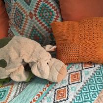 Mi Proyecto del curso: Técnicas básicas de knitting y crochet. A Cooking, Jewelr, Design, Calligraph, Street Art, Lettering, Embroider, Decoration, Fiber Arts, and Macrame project by Patricia Vazquez - 05.14.2020