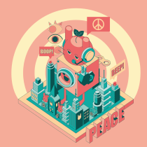 My project in Isometric Vector Illustrations from Scratch course - BUNTOPIA. A Illustration, and Graphic Design project by Lisa B - 05.14.2020
