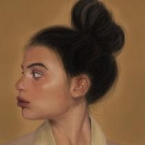 Mi Proyecto del curso: Técnicas digitales de retrato ilustrado. A Illustration, Digital illustration, Portrait illustration, Portrait Drawing, and Digital Drawing project by Guaji - 05.15.2020