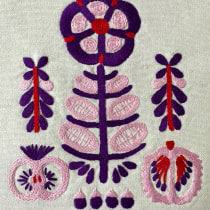 My project in Theory of Colour for Textile Projects course. A Embroider project by Erica Beaty - 05.17.2020