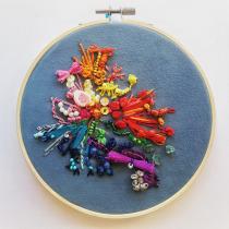Mi Proyecto del curso: Bordado y personalización de accesorios . A Crafts, and Embroider project by Laura Bañares González - 05.19.2020