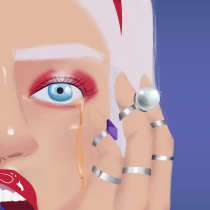 Mi Proyecto del curso: Ilustración con aerografía digital. Um projeto de Ilustração digital, Ilustração de retrato e Desenho digital de María Bran - 20.05.2020