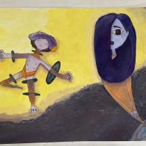 Mi Proyecto del curso: Ilustración con pintura y técnica mixta. Um projeto de Ilustração de manwherrera - 21.05.2020