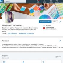 Mi Proyecto del curso: LinkedIn: construye tu marca personal . A Marketing und Social Media project by Aida Moya - 22.05.2020