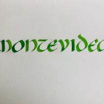 Mi Proyecto del curso: Caligrafía uncial para principiantes. Un projet de Calligraphie de Gabriel Calderon - 24.05.2020