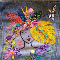 Mi Proyecto del curso: Bordado y personalización de accesorios . A Embroider project by Alma Zamora - 05.28.2020