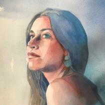 Mi Proyecto del curso: Retrato artístico en acuarela. Un proyecto de Bellas Artes de Llanos Part Jornet - 28.05.2020