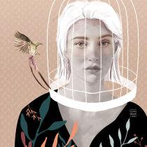 Mi Proyecto del curso: Retrato con lápiz, técnicas de color y Photoshop. Um projeto de Ilustração de Olivia Fregoso - 15.03.2020