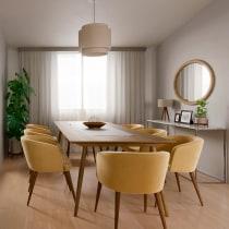PROYECTO SALA COMEDOR. Un proyecto de Diseño, Arquitectura y Arquitectura interior de Paola - 04.06.2020