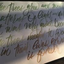Mi Proyecto del curso: Caligrafía itálica con brush pen. Un progetto di Calligrafia con pennarello di Jose Bermejo - 04.06.2020