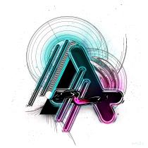 Mi Proyecto del curso: Diseño de letras y alfabetos con técnicas digitales. Un proyecto de Diseño digital de Alicia Mjz - 08.06.2020