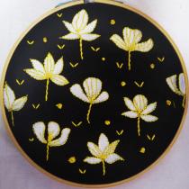 Mi Proyecto del curso: Composición floral con acrílico y bordado. Un progetto di Ricamo di Ariadne - 18.06.2020