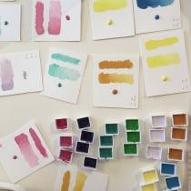 Mi Proyecto del curso: Elaboración de acuarelas artesanales. A Aquarellmalerei project by Lucila Bertazza - 05.05.2019