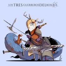 Los tres guerreros del bosque . Un proyecto de Ilustración, Diseño de personajes e Ilustración digital de Williams Cortes - 24.06.2020