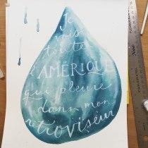 My project in Watercolor Paint Brush Calligraphy for Beginners course. Un proyecto de Pintura a la acuarela y Pintura acrílica de Patricia Otis - 27.06.2020
