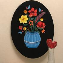 My project in Flower Composition with Acrylic Paint and Embroidery course. Un progetto di Artigianato di bochimanda - 28.06.2020