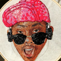 Mi Proyecto del curso: Retratos bordados en pedrería. Un proyecto de Artesanía y Bordado de Jimena Ramírez - 30.06.2020