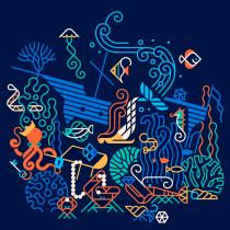 Proyecto de mi curso: Ilustración expresiva a toda línea. Un proyecto de Ilustración, Ilustración vectorial, Dibujo a lápiz, Dibujo e Ilustración digital de Carlos Arrojo - 07.07.2020