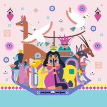 Ma petite déesse: inspiration des dessins de l'antique Egypte et de  Ely Ely Illustra. A Digital Drawing project by Annick Piron - 07.09.2020