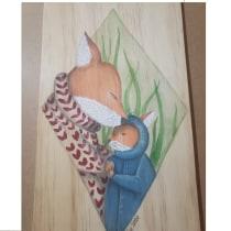 Mi Proyecto del curso: Acuarela sobre madera. A Watercolor Painting project by Yocelyn Bugueño Patiño - 07.10.2020