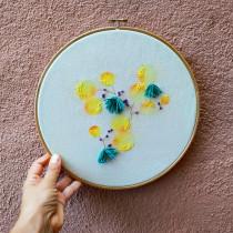 Bosque amarillo en bordado y acuarela.. A Aquarellmalerei und Stickerei project by Inès Badosa - 10.07.2020
