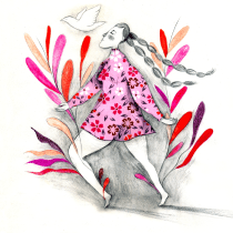 Mi Proyecto del curso: Experimentación gráfica para relatos ilustrados. Un proyecto de Ilustración, Dibujo a lápiz, Dibujo, Pintura a la acuarela e Ilustración con tinta de Vrigit Smith - 12.07.2020