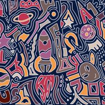 Space Doodle. Un projet de Illustration numérique de leonbodha - 13.07.2020