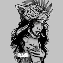 My project in Digital Design and Illustration of Tattoos with Procreate course. A Digital illustration, Tattoo Design, and Digital Design project by aporteous77 - 07.22.2020