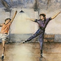 My project in Watercolor Illustration: Billy Elliot Boogie Dance Scene. Un proyecto de Pintura a la acuarela de Charl Marais - 13.08.2020