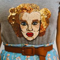 Meu projeto do curso: Retratos bordados com pedrarias. Un progetto di Fashion Design di Liz Castaman Somavilla - 13.08.2020