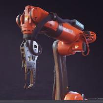 Robot Industrial - Proyecto Final - Curso: Creación de props realistas para videojuegos. Un projet de 3D, Modélisation 3D, Jeux video, Conception 3D , et Développement de jeux vidéo de Leonardo Grosso - 16.08.2020
