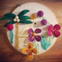 My project in Introduction to 3D Embroidery course. Un proyecto de Bordado y Decoración de interiores de Valentina Casella - 21.08.2020