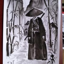 Mi Proyecto del curso: Ilustración en tinta china con influencia japonesa. Um projeto de Ilustração com tinta de Ana Pereira - 22.08.2020