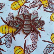 Meu projeto do curso: Gravura em relevo e estampagem contemporânea. A Fine Art project by Márcia Cristina da Silva Sousa - 08.24.2020