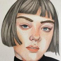 Mi Proyecto del curso: Retrato en acuarela a partir de una fotografía. Un progetto di Pittura ad acquerello di Natylu Ortega Nuñez - 04.09.2020