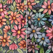 Projeto de Eulália Santos do curso: Criação de paletas de cores com aquarela. A Fine Art project by Eulalia Santos - 09.08.2020