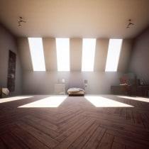 Proyecto Interior Home. Un proyecto de 3D, Informática, Arquitectura, Animación 3D y Modelado 3D de Rubén Roldán Crespo - 09.09.2020